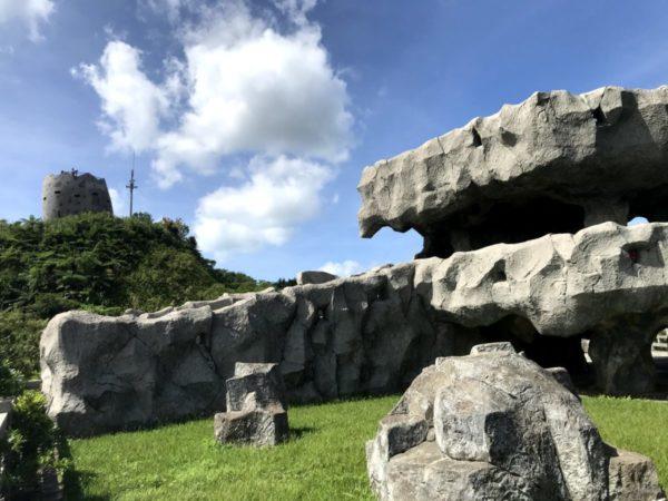 バンナ公園【南の島の展望台】個性的モニュメントで冒険感が味わえる