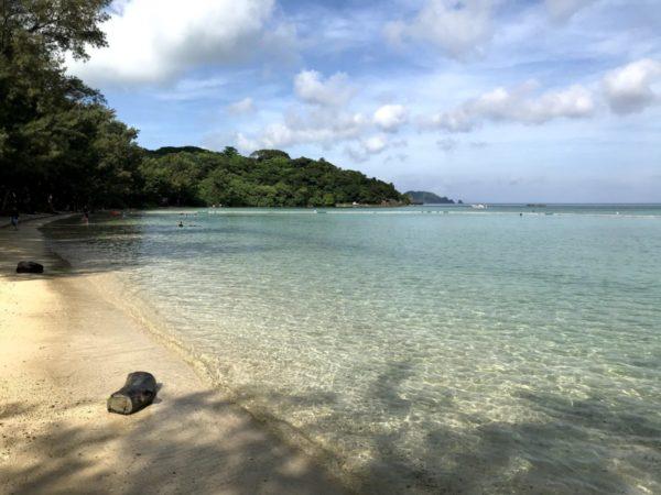 石垣島子連れ旅【海遊びで王道】白砂がつくる遠浅で安心な底地ビーチ